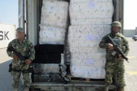 Aseguran en Michoacán 130 kilos de cocaína ocultos entre pañales