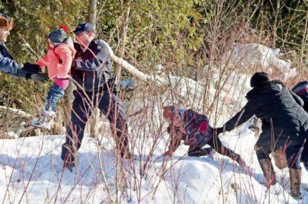 Buscan refugio en Canadá