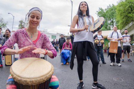 Espiral de tambores equinoccio Monterrey 2017