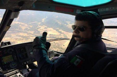 Piloto de helicóptero de la PF  auxilia a avioneta con falla