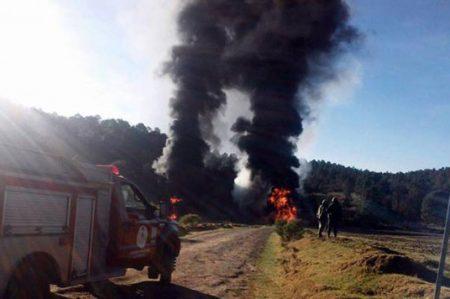 Tlaxcala reporta saldo blanco tras incendio en ducto de Pemex