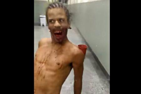 Supuesto hombre poseído es grabado en video en Brasil