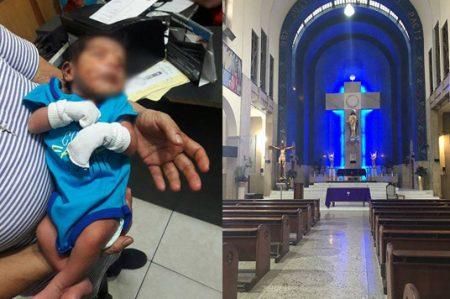 Bebé abandonado en Iglesia de Monterrey permanece internado