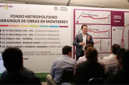 Anuncian Obras del Fondo Metropolitano en Monterrey