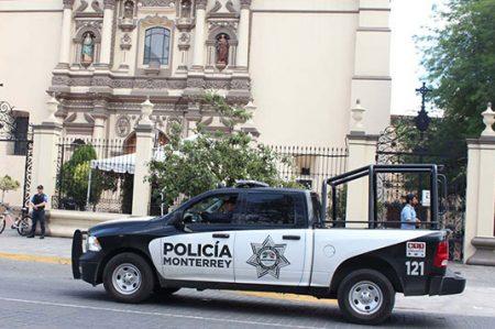 Implementan Operativo de Seguridad y Vialidad en Parroquias de Monterrey