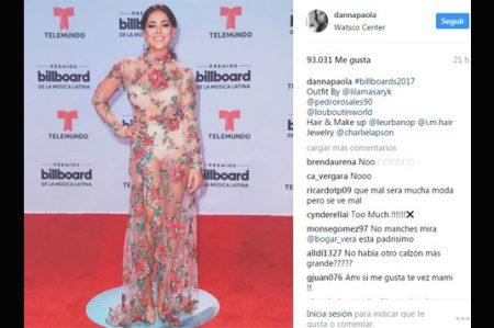 Critican vestido transparente de Danna Paola