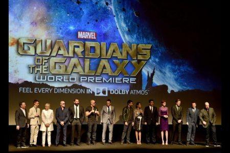 Choque de estrellas en la presentación de 'Guardianes de la Galaxia'