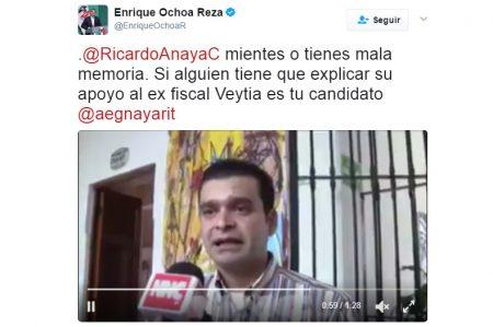Se debe investigar a candidato del PAN por apoyo a Veytia: PRI