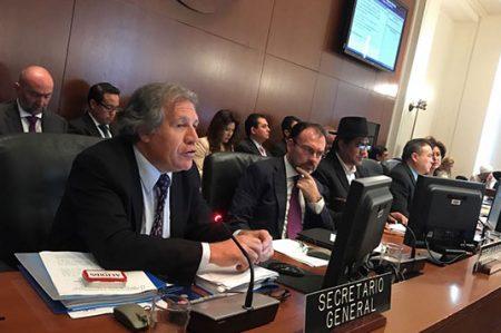 Luis Videgaray asiste a la Asamblea de la OEA