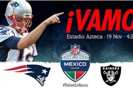 Patriots-Raiders en México ya tiene hora