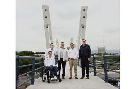 Inauguran Puente Peatonal Atirantado UNAL – Colonia Anáhuac