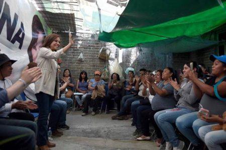 Arremete Josefina contra Del Mazo y Delfina en Valle de Chalco