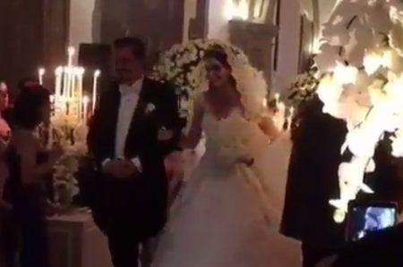 Difunden imágenes de la boda de Ximena Navarrete