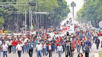 Anuncia CNTE marcha nacional el Día del Maestro