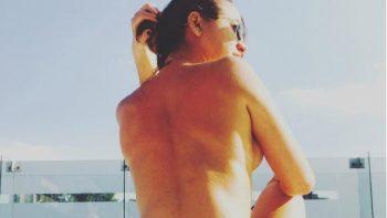 Ingrid Brans 'La Reata' presume su figura semidesnuda