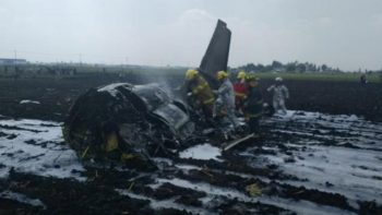 Investiga SCT desplome de Learjet en Toluca