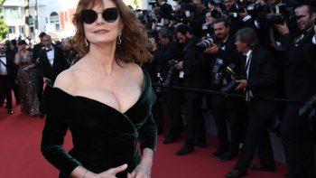 Susan Sarandon y el escote que impactó en Cannes