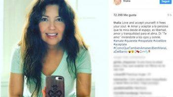 Thalía comparte foto al natural