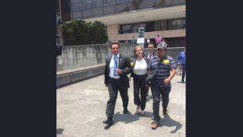 Acude Eva Cadena a San Lázaro a defenderse por desafuero