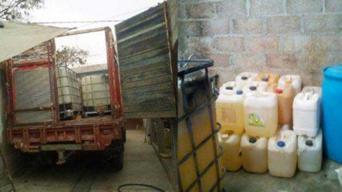 Explota almacén clandestino de combustible en Hidalgo