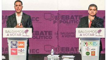 Candidatos 'se tunden hasta con la cubeta' en debate