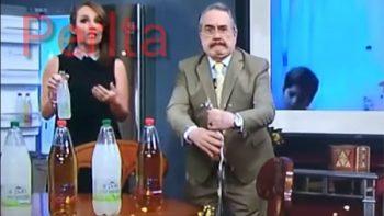 Pedro Sola sufre otro momento incómodo en comercial