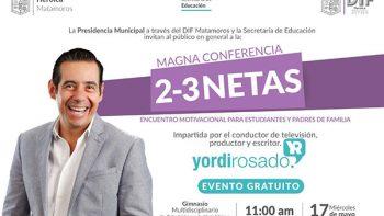 Brindarán conferencia de Yordi Rosado para los jóvenes matamorenses