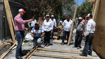Reconstruyen vivienda de Don José