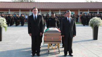 Despiden con honores a policía de Fuerza Civil