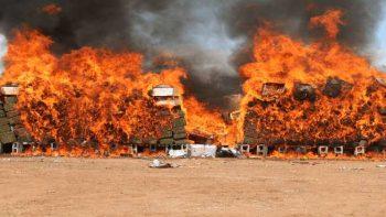 Incinera PGR cinco toneladas de droga en Sonora
