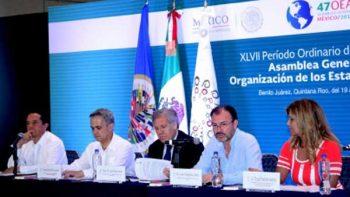 Gobernadores y países de la OEA impulsarán convenios en diversas materias