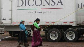 Diconsa abastece alimentos en comunidades indígenas del Bajío