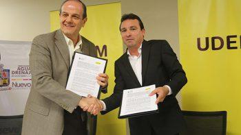 Firman AyD y UDEM convenio para impulsar el desarrollo tecnológico