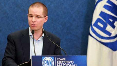 Panistas ponen mensajes contra Ricardo Anaya en votación interna
