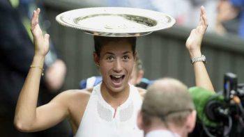 Garbiñe Muguruza triunfa en Wimbledon, se impone a Venus Williams