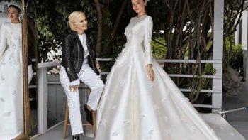 Miranda Kerr muestra vestido de novia de ensueño