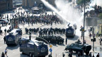 Alemania mantiene fuerte dispositivo para contener protestas contra G-20