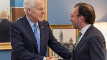 Videgaray y senador texano Cornyn coinciden en modernización del TLCAN