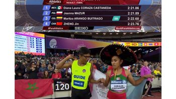 Velocista invidente 'regala' medalla de Oro a México (VIDEO)