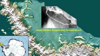 Enorme iceberg se desprende de la Antártida