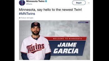 Jaime García llega a Los Mellizos de Minnesota