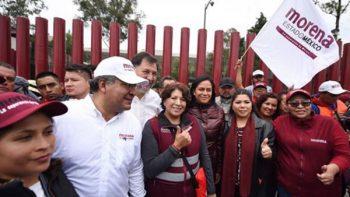 Militantes de Morena dormirán afuera de San Lázaro en apoyo a Delfina