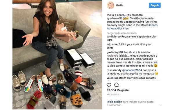 Thalía Thalía Thalía es adicta a la compra de zapatos 2083ef