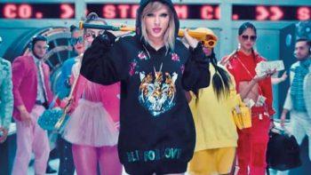 Nuevo video de Taylor Swift hace historia en YouTube