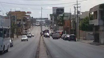 Por presunto 'granadazo' continúa cerrado bulevar Hidalgo en Reynosa