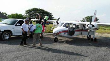 Avioneta apoya en la búsqueda de pescadores desaparecidos en Chiapas