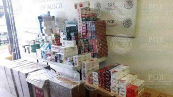 Asegura PGR 123 mil cigarros de procedencia ilícita en Jalisco