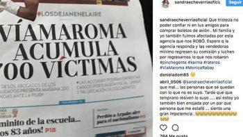 Sandra Echeverría denuncia estafa con boletos de avión