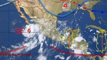Pronostican tormentas intensas en 12 estados por 'Lidia'