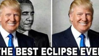 Trump se burla de Obama con referencia racista